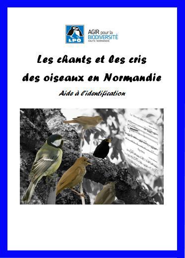 couverture du guide des chants d'oiseaux de Normandie