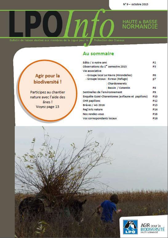 couverture du LPO Infos numéro 9