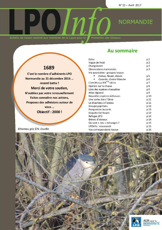 couverture du LPO Infos numéro 12