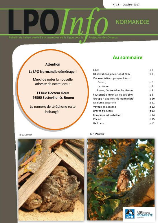 couverture du LPO Infos numéro 13